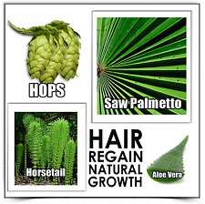 Hair Growth 3 REGAIN SHAMPOO loss alopecia dht & no Minoxidil bad side effects