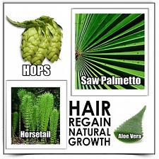 Hair Growth 3 REGAIN SHAMPOO loss alopecia dht & no Minoxidil bad side effects