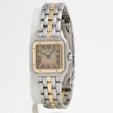 Cartier Panthere 18k Yellow Gold and Stainless Steel Ladies Vintage Watch