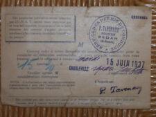 SEDAN CHARLEVILLE 1937 SERVICE DES PERMIS DE CONDUIRE<INSPECTEUR  CP