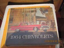 RARE USE VINTAGE ORIGINAL 1964 CHEVY DEALERSHIP  SALES BOOK  COLORS,INTERIORES