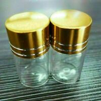 10pcs 22x35mm Tiny Small New Empty Clear 6ml Bottles Glass Vials With Screw Cap