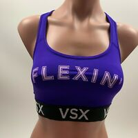 Victoria's Secret The Player Racerback VSX Sport Bra - Purple - Size L - NWT