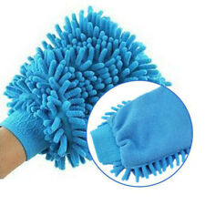 Car Vehicle Microfiber Hand Towel Coral Chenille Fleece Washing Cleaning Glove