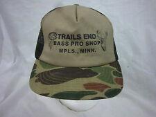trucker hat baseball cap BASS PRO SHOPS retro snapback cool mesh 1980 rare