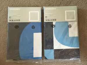 2x Ikea Pillowcase Storsarv Cushion Covers Blue Block Colour Erika Pekkari