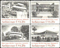 Architecture 1982 Mint NH Se-Tenant Block #2019 - 2022  Retail Value $4.35