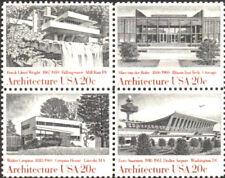 Architecture 1982 Mint NH Se-Tenant Block #2019 - 2022  Retail Value $4.35