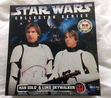 Star Wars Han Solo & Luke Skywalker Stormtrooper Disguise 12'' KB Toys Exclusive