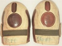 1940's MacGregor & Goldsmith Leather & Wool Basketball Knee Pads