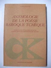 ANTHOLOGIE DE LA POÉSIE BAROQUE TCHÈQUE / L'ÂGE D'HOMME / CLASSIQUES SLAVES 1981