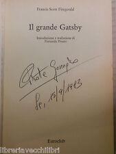 IL GRANDE GATSBY F S Fitzgerald Euroclub 1983 libro romanzo narrativa storia di