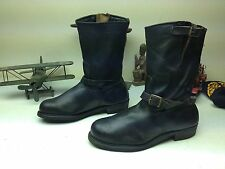 CLASSIC KNAPP DISTRESSED BLACK ENGINEER STEEL TOE MOTORCYCLE BOOTS SIZE 10.5 D
