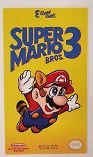 REPLACEMENT NINTENDO NES CARTRIDGE STICKER LABEL FOR: SUPER MARIO BROS 3
