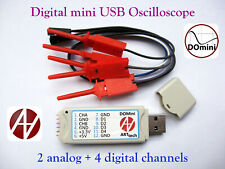 Domini Digital Usb Oscilloscope 2 Analog 4 Digital Channels Android Windows