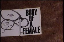 BODY OF A FEMALE PRESSBOOK COMPLETE SEXPLOITATION