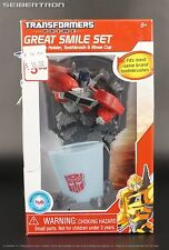 Transformers Prime GREAT SMILE TOOTHBRUSH SET Optimus Prime New