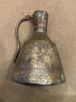 """LARGE 14"""" X 10""""  ANTIQUE COPPER HAND POUNDED RIVETED PITCHER JUG HAND CRAFTED"""