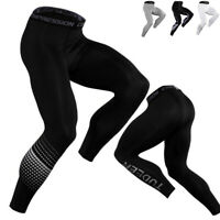 Men's Compression Long Legging Workout Skin Base Layer Cool Dry Sport Gym Bottom
