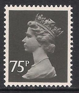 GB 1984 sg X1023a 75p Black litho. ordinary paper perf 15x14 T367 MNH
