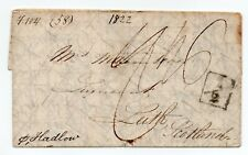 More details for 1822 cross written letter to leith with 1/2d wheel tax & india letter dover boxe