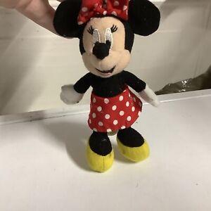 "Walt Disney World Minnie Mouse 5"" Plush Key Ring Key Chain"