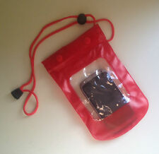 Waterproof RED Pouch for Phone / Camera Keys Money Dry Bag Sports Beach Case