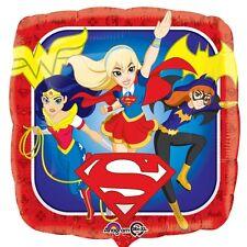 "18"" DC SUPER HERO GIRLS HELIUM FOIL BALLOON SUPERGIRL/BATGIRL/WONDER WOMAN 33223"