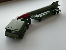 Vintage Soviet Army Wheeled tractor with Rocket Military  Metal Toy