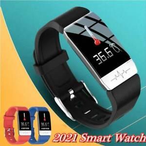 Smartwatch Bluetooth Armband Herzfrequenz Blutdruckmessgerät Tracker Armbanduhr,