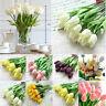Tulip Artificial Flower Latex Real Bridal Wedding Bouquet Home Decor M5B3