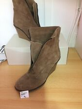 KURT GEIGER CARVELA Camel mid brown suede wedge ankle boots size 5 / 38 Was £140