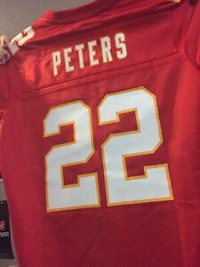 NEW Womens Peters Kansas City Chiefs Jersey Red
