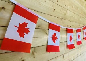 🇨🇦CANADIAN Flag Bunting Canada Day July 1st Party Event Polyester 32 Flag 8m