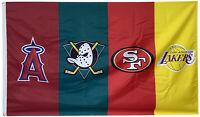 Los Angeles lakers & SF 49ers & Anaheim Ducks & Anaheim angels flag 3x5FT banner