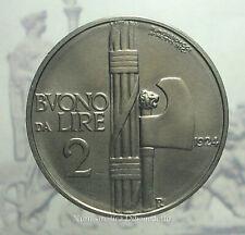 Regno D'Italia - Vittorio Emanuele III - Buono da 2 Lire Fascio 1924 qFDC / FDC