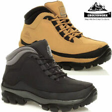 NEW MENS GROUNDWORK LEATHER STEEL TOE CAP SAFETY WORK ANKLE BOOTS SHOES TRAINERS