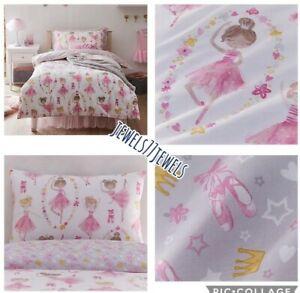 PINK FAIRY BALLET Duvet Set Girls Bedding 🩰🩰Pink /White SINGLE BED BEAUTIFUL🩰
