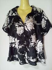 Katies Short Sleeve Floral Regular Size Tops for Women