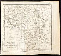 1750 - Carte de l'Afrique - Par Vaugondy - Gravure ancienne