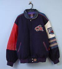 Vintage NHL Varsity Veste En Bleu Marine Letterman Bomber XL X-Large made in USA