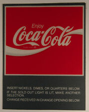 "Soda Machine Decal Coca-Cola 4""x5"" 5 pcs with adhesive back"