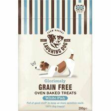 Laughing Dog Gloriously Grain Free Oven Baked Treats White Fish 200g Pack