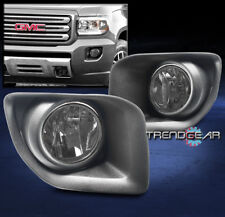 2015-2017 GMC CANYON TRUCK FRONT BUMPER FOG LIGHTS LAMPS SMOKE W/WIRING HARNESS