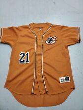 Schaumburg Flyers Northern League #21 Bethran Large Orange Baseball Jersey