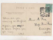 Miss M Fox Hop Bine Farm Ossington Nottinghamshire 1904 531b