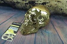 Totenkopf XXL GOLD vergoldet Deko Skull Schädel Tod tot Skulptur Totenschädel