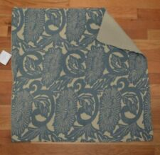 "Pottery Barn Shibori Floral Flower Print Pillow Cover 26"" Blue #63"