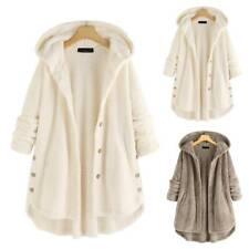 Women Ladies Fleece Hoodie Hooded Coat Tops Winter Warm Long Jacket Plus Size