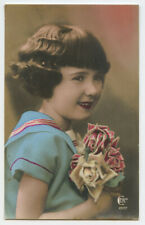 c 1930 Child Children Cute LITTLE GIRL French photo postcard
